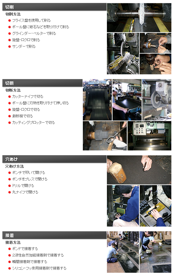 井上ゴム工業所の加工について|ゴム加工・大阪|井上ゴム工業所